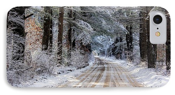 IPhone Case featuring the photograph The Oldest Road After The Snow by Constantine Gregory