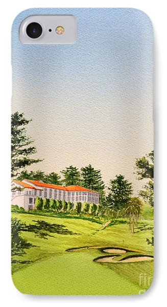 IPhone Case featuring the painting The Olympic Golf Club - 18th Hole by Bill Holkham