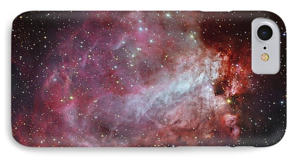 The Omega Nebula In The Constellation IPhone Case by Roberto Colombari