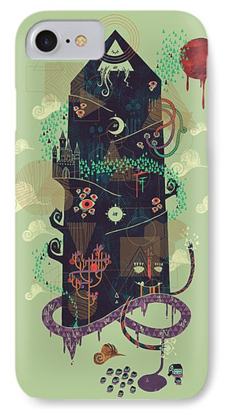 The Ominous And Ghastly Mont Noir IPhone Case by Hector Mansilla