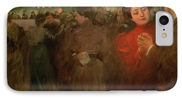 The Open Air Party Phone Case by Ramon Casas i Carbo