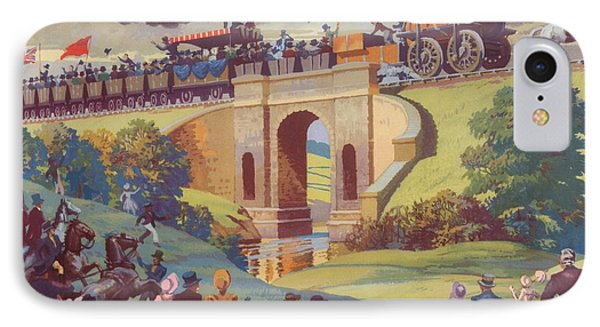 The Opening Of The Stockton And Darlington Railway Macmillan Poster Phone Case by Norman Howard