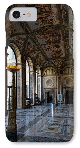 The Opulent Loggia In Villa Farnesina Rome Italy - 1 Phone Case by Georgia Mizuleva