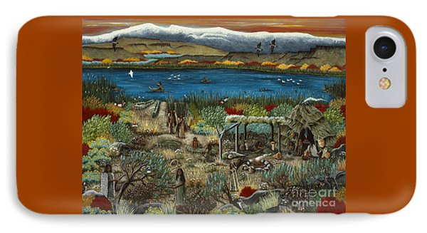 IPhone Case featuring the painting The Oregon Paiute by Jennifer Lake