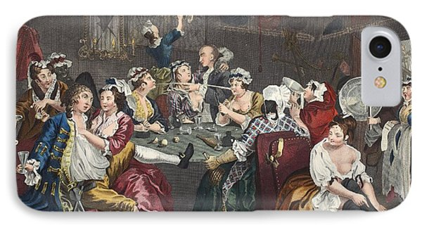 The Orgy, Plate IIi From A Rakes IPhone Case by William Hogarth