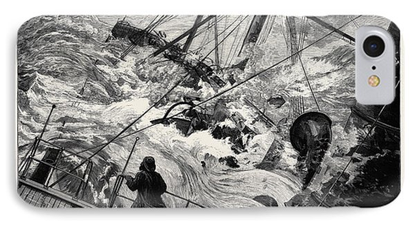 The Orient Line Steamer Chimborazo In A Gale 1880 IPhone Case