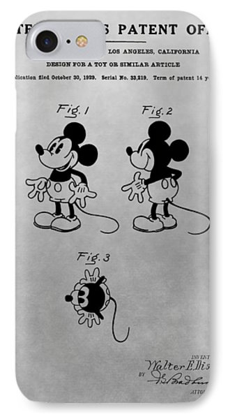 The Original Mickey Mouse Patent Design IPhone Case by Dan Sproul