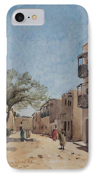 The Ouled Nail Quarter, Biskra, April 1889  IPhone Case by Henri Duhem