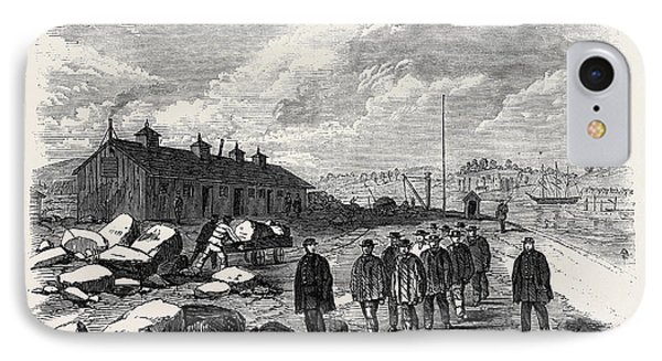 The Outbreak Among The Convicts At Chatham The Mess House St IPhone Case by English School