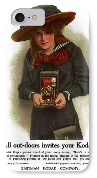 The Outdoor Girl. Circa 1911. IPhone Case by Unknown Artist