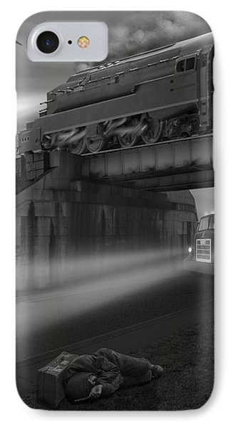 Buzzard iPhone 7 Case - The Overpass by Mike McGlothlen