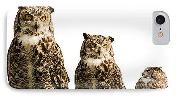 The Owl Trio IPhone Case