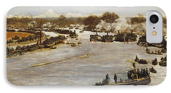 The Oxford And Cambridge Boat Race IPhone Case by James Macbeth