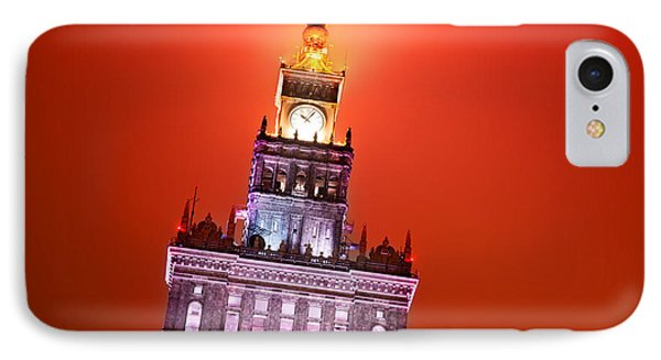 The Palace Of Culture And Science Warsaw Poland  Phone Case by Michal Bednarek