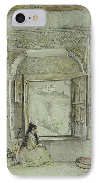 The Palace Of The Generalife IPhone Case by John Frederick Lewis