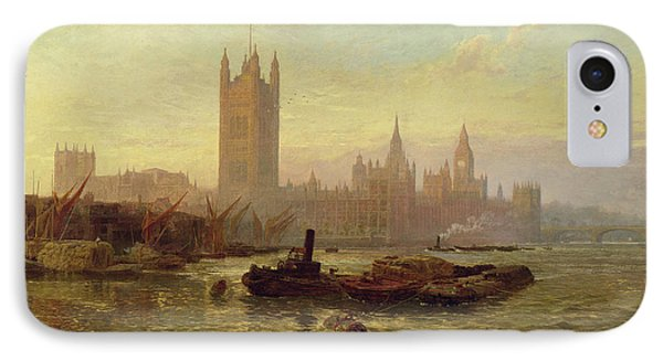 The Palace Of Westminster, 1892  IPhone Case by George Vicat Cole