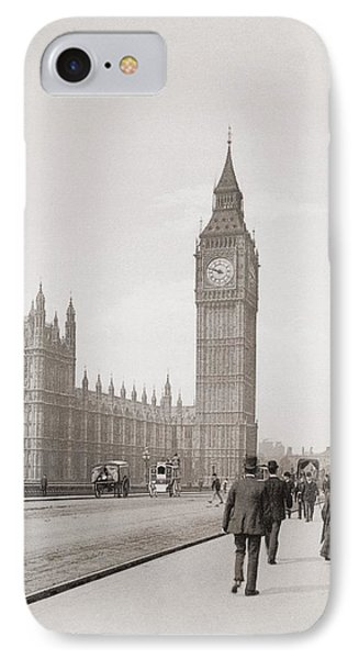 The Palace Of Westminster, Aka The Houses Of Parliament Or Westminster Palace, London, England IPhone Case by English School