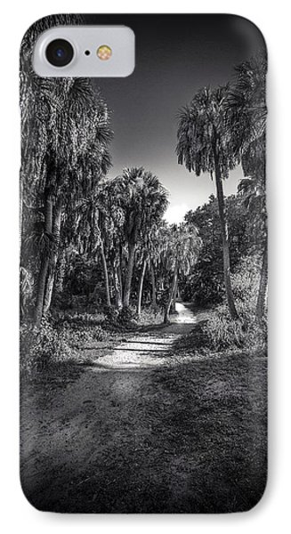 The Palm Trail B/w IPhone Case by Marvin Spates