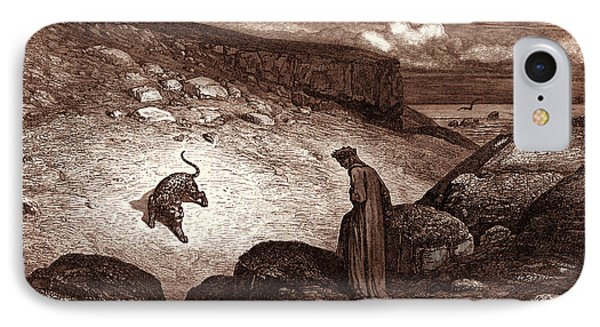 The Panther In The Desert, By Gustave Dore IPhone Case by Litz Collection