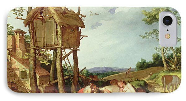 The Parable Of The Wheat And The Tares Phone Case by Abraham Bloemaert