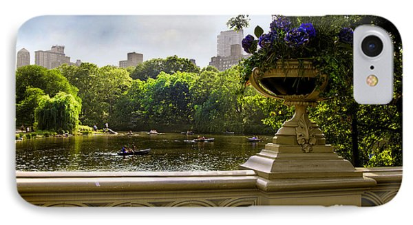 The Park On A Sunday Afternoon IPhone Case by Madeline Ellis