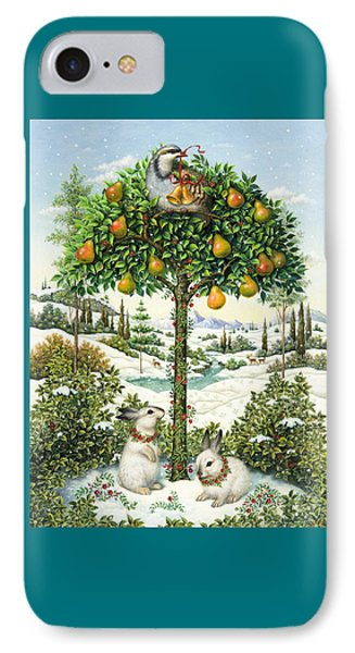 The Partridge In A Pear Tree Phone Case by Lynn Bywaters