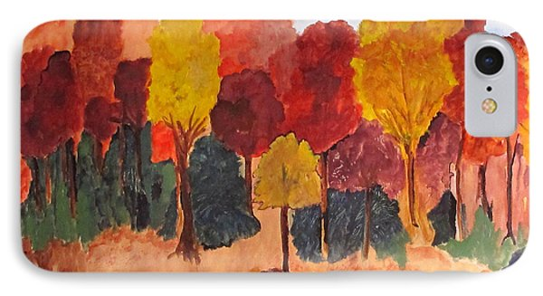 IPhone Case featuring the painting The Pasture In Autumn by Sandy McIntire
