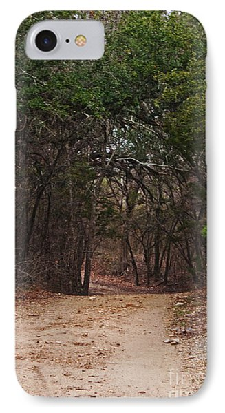 The Path In The Woods Phone Case by Lisa Holmgreen