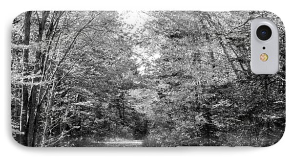 The Path Less Traveled Black And White Phone Case by Brett Pelletier