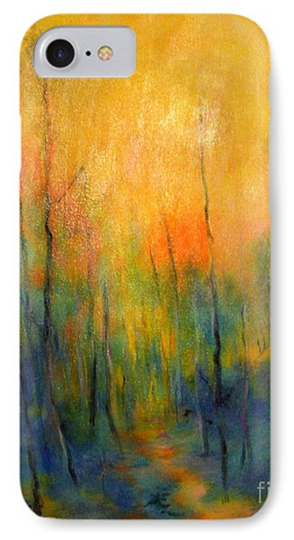 IPhone Case featuring the painting The Path To Forever by Alison Caltrider