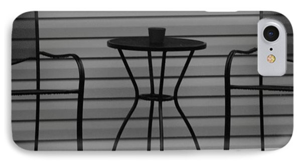The Patio In Black And White Phone Case by Rob Hans