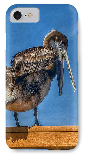 IPhone Case featuring the photograph The Pelican by Hanny Heim