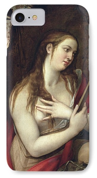 The Penitent Magdalene IPhone Case by Luis de Carbajal