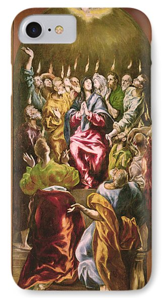 The Pentecost, C.1604-14 Oil On Canvas IPhone Case by El Greco