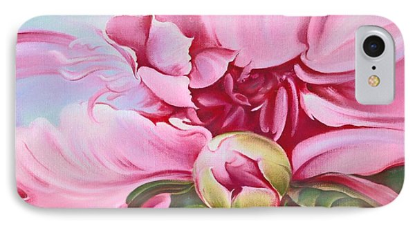 IPhone Case featuring the painting The Peony by Anna Ewa Miarczynska
