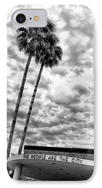 The People Are The City Palm Springs City Hall IPhone Case