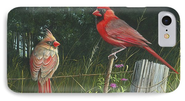 IPhone Case featuring the painting The Perfect Match by Mike Brown