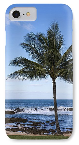The Perfect Palm Tree - Sunset Beach Oahu Hawaii Phone Case by Brian Harig
