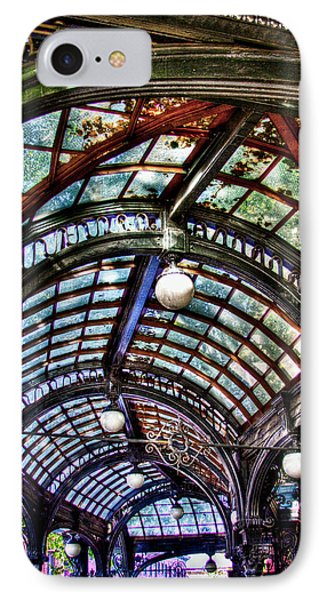 The Pergola Ceiling In Pioneer Square IPhone Case by David Patterson