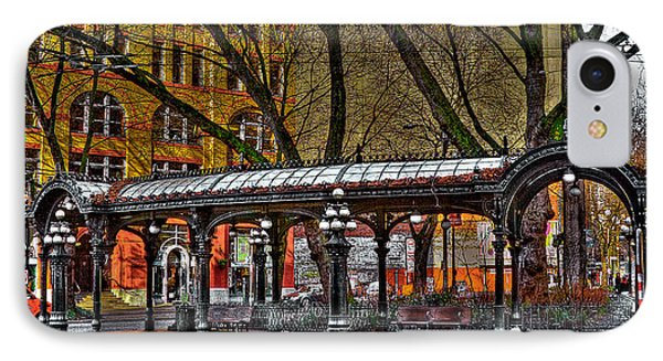 The Pergola In Pioneer Square - Seattle  Phone Case by David Patterson