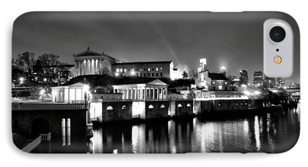 The Philadelphia Waterworks In Black And White Phone Case by Bill Cannon