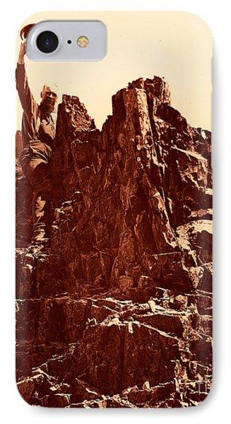 The Photographer On Pinnacle Peak Early 1900 Era IPhone Case by Eddie Eastwood