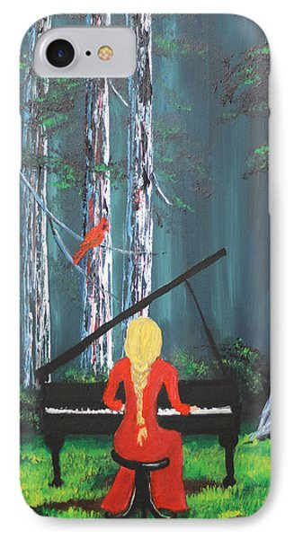 The Pianist In The Woods IPhone Case