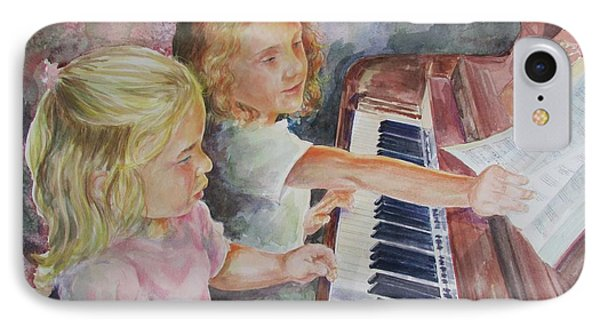 The Piano Lesson IPhone Case by Gloria Turner