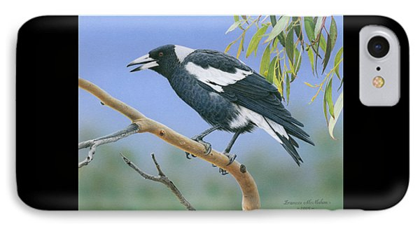 The Pied Piper - Australian Magpie IPhone Case by Frances McMahon