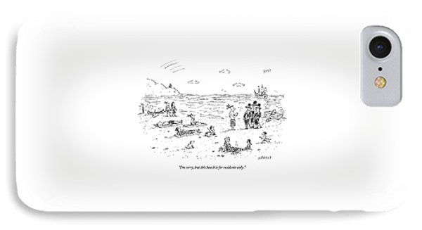 The Pilgrims Arrive At A Native American Beach IPhone Case by David Sipress