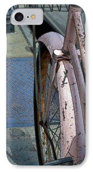 IPhone Case featuring the photograph The Pink Bicyclette by Nadalyn Larsen