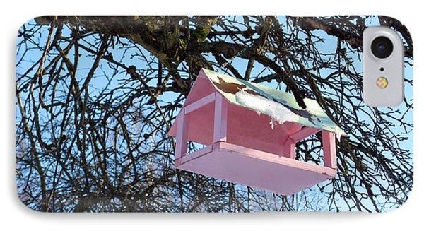 The Pink Bird Feeder Phone Case by Ausra Huntington nee Paulauskaite