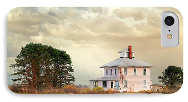 The Pink House IPhone Case by Karen Lynch