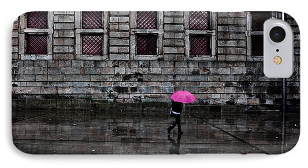 The Pink Umbrella IPhone Case by Jorge Maia